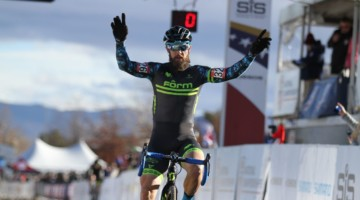Jake Wells won in dominating fashion in Reno. 2018 Cyclocross National Championships, Masters 40-44. © D. Mable/ Cyclocross Magazine