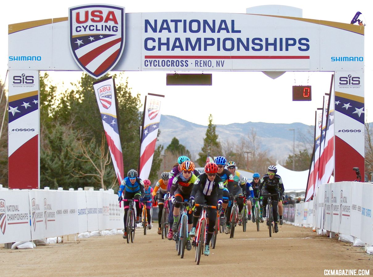 USAC rankings are used to determine call-ups at Masters Nationals. Masters 35-39. 2018 Cyclocross National Championships. © D. Mable/ Cyclocross Magazine