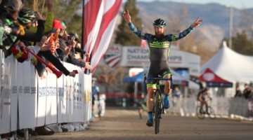 Jake Wells wins his second National Championship of the week. 2018 Cyclocross National Championships. © D. Mable/ Cyclocross Magazine