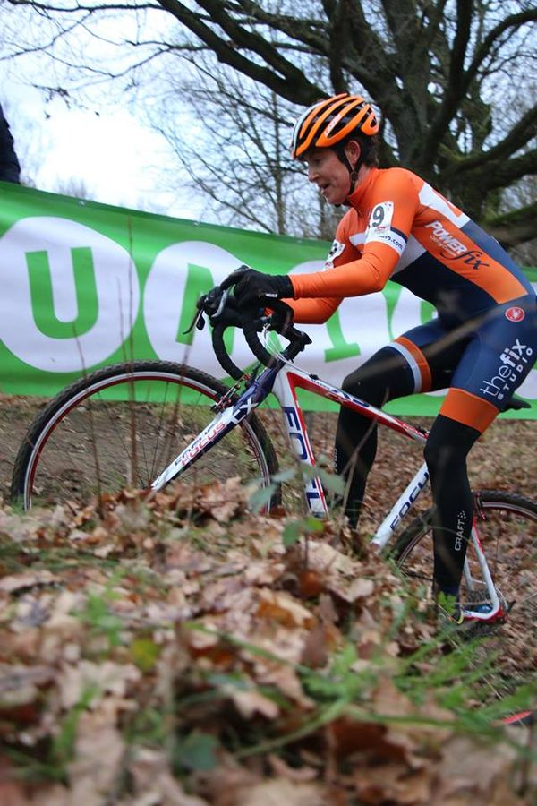 Coogan Cisek hits a rut at Leuven. photo: Peter Geelen