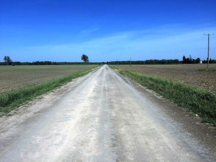 eastern Michigan farmland - flat and fast, enjoy it while you can. Photo courtesy of Coast to Coast Gravel Grinder