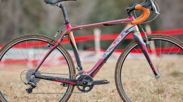 John Elgart's Masters 70-74 winning cyclocross bike. 2018 Cyclocross National Championships. © A. Yee / Cyclocross Magazine