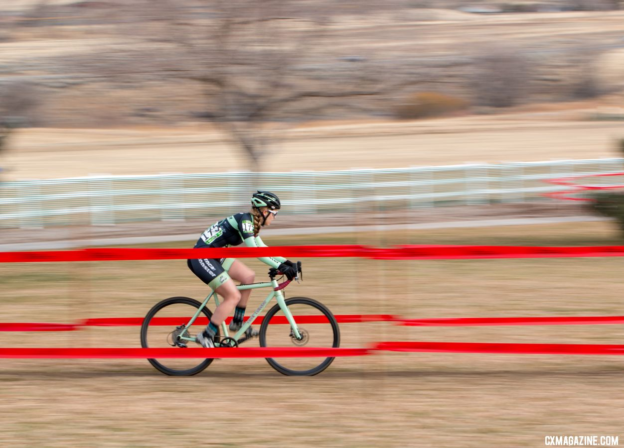 Amanda Schaper finished sixth, behind her doppelganger in name, Amanda Schaap. Masters Women 35-39. 2018 Cyclocross National Championships. © A. Yee / Cyclocross Magazine