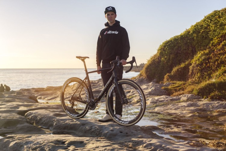 While not posing for prom photos, Ortenblad has been getting good time in on his new tires. Tobin Ortenblad Vittoria Tires announcement. © Ian Stowe