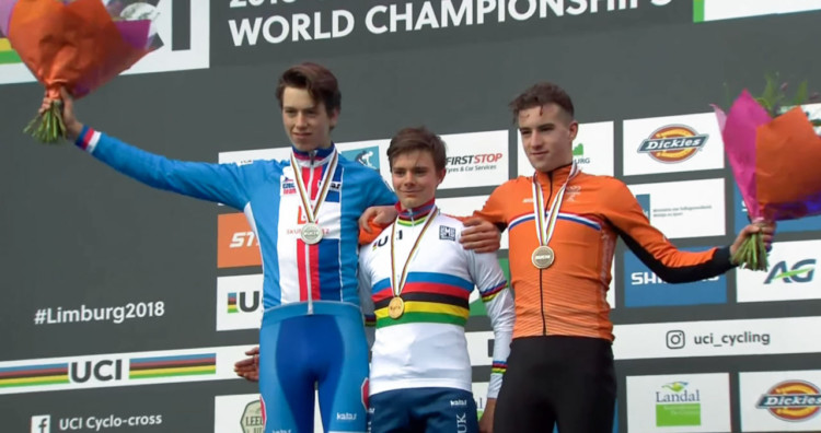 2018 Cyclocross World Championships Junior Men podium