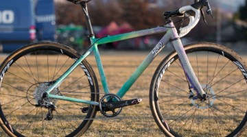 Samantha Runnels' Collegiate Varsity silver-medal Squid cyclocross bike. 2018 Cyclocross National Championships. © A. Yee / Cyclocross Magazine