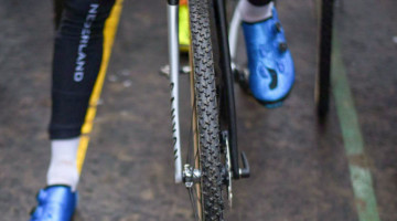 Van der Poel shed his normal Dugast Rhino tubulars for Challenge Limus for his Worlds race. The Limus had won the four earlier title races. 2018 UCI Cyclocross World Championships, Valkenburg-Limburg, The Netherlands. © Bart Hazen / Cyclocross Magazine