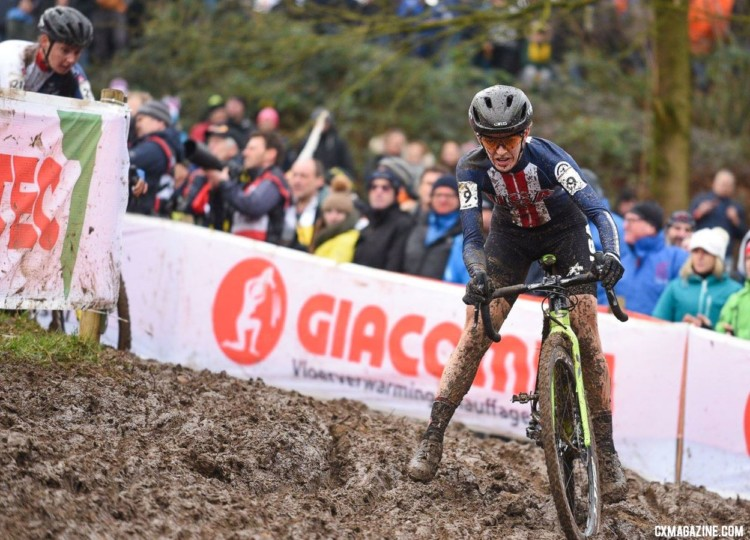 Kaitie Keough finished sixth on Saturday. 2018 UCI Cyclocross World Championships, Valkenburg-Limburg, The Netherlands. © Bart Hazen / Cyclocross Magazine