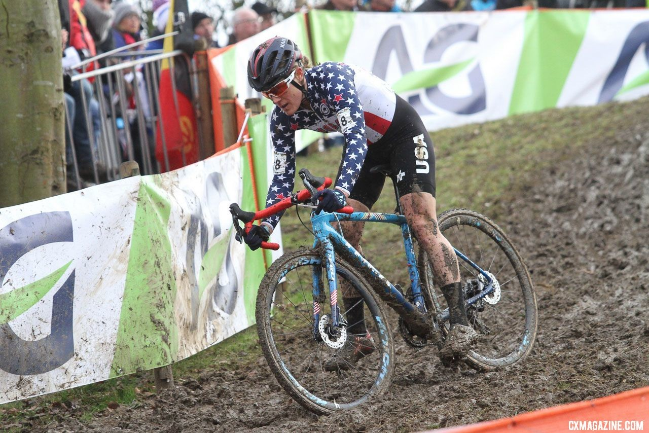 Katie Compton's jersey mix-up at Worlds last year was mild in comparison to some of Helen's experiences. Elite Women. 2018 UCI Cyclocross World Championships, Valkenburg-Limburg, The Netherlands. © Bart Hazen / Cyclocross Magazine