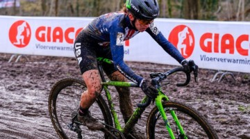 Kaitie Keough bounced back after a tough Nationals to finish a personal best-ever sixth. Elite Women, 2018 UCI Cyclocross World Championships, Valkenburg-Limburg, The Netherlands. © Gavin Gould / Cyclocross Magazine
