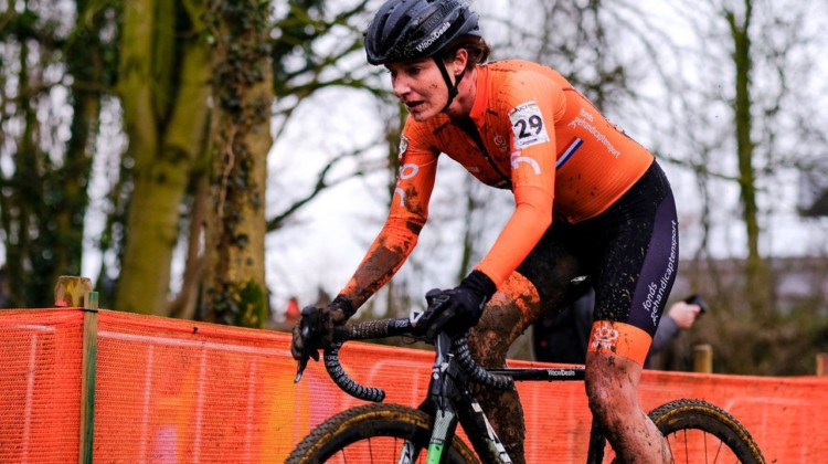 Marianne Vos raced her typical abbreviated 'cross season, but never really got it going as she usually does. Elite Women, 2018 UCI Cyclocross World Championships, Valkenburg-Limburg, The Netherlands. © Gavin Gould / Cyclocross Magazine