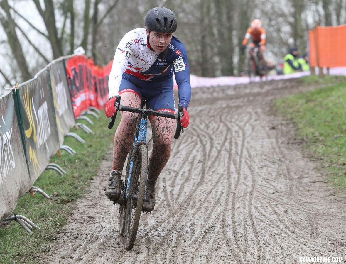 Harriet Harnden and other young riders will be mixing it up in Loenhout. U23 Women. 2018 UCI Cyclocross World Championships, Valkenburg-Limburg, The Netherlands. © Bart Hazen / Cyclocross Magazine