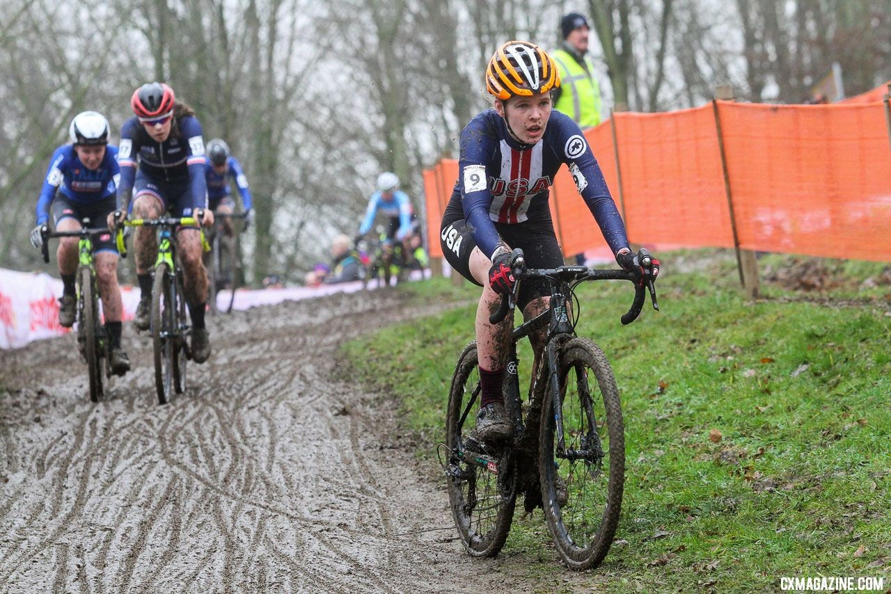 Honsinger hopes to return to Worlds again this season. U23 Women. 2018 UCI Cyclocross World Championships, Valkenburg-Limburg, The Netherlands. © Bart Hazen / Cyclocross Magazine