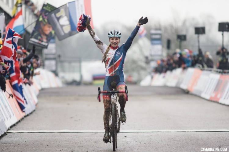 Evie Richards wins her second U23 Women's title. 2018 UCI Cyclocross World Championships, Valkenburg-Limburg, The Netherlands. © B. Hamvas / Cyclephotos