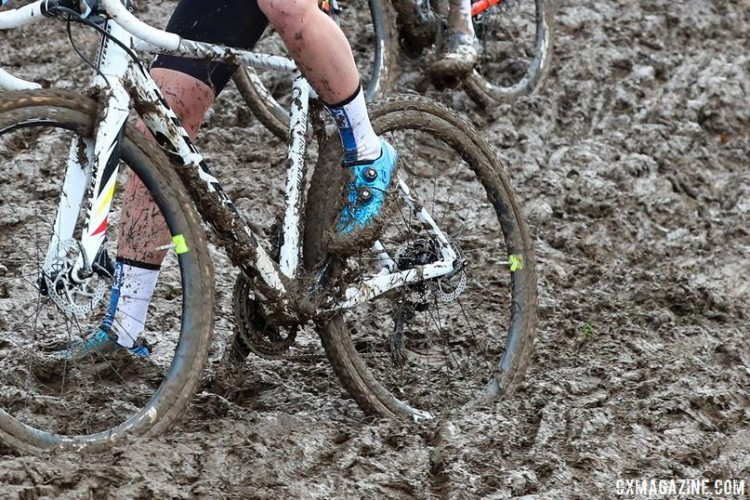 Conditions are tough in Europe. 2018 Cyclocross World Championships, Sanne Cant's Stevens Super Prestige. © B. Hazen / Cyclocross Magazine