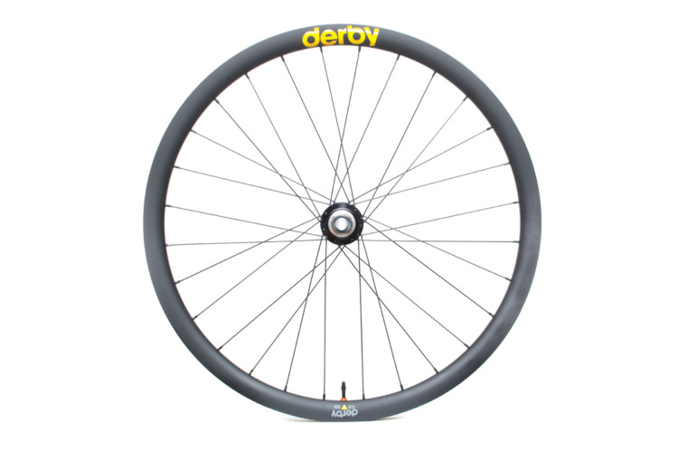 Derby's CX 23i rims are available in 24, 28 and 32 hole models. Derby CX 23i carbon tubeless wheels. © Cyclocross Magazine