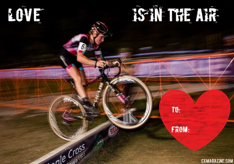 Noble's heart is on the road less traveled. 2018 CXM Valentines. © Cyclocross Magazine