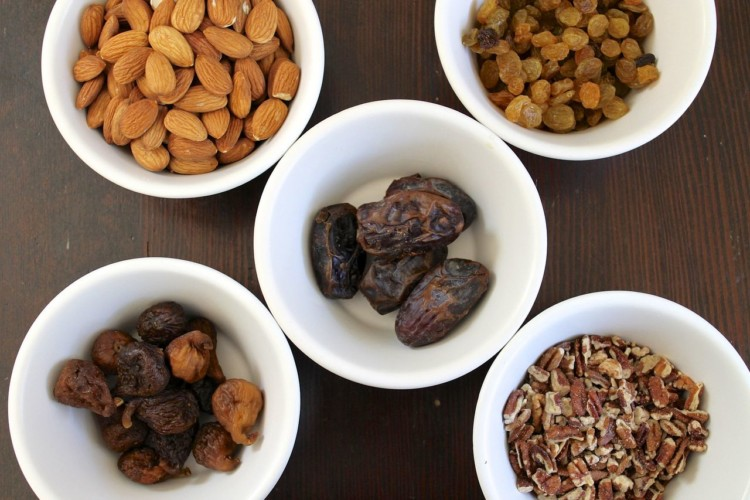 Eating protein with foods such as nuts is an important part of cycling nutrition. photo: Flickr user thedabllst
