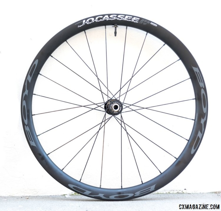 The $2,000 Boyd Jocassee 650b Carbon Tubeless Gravel Wheelset. © C. Lee / Cyclocross Magazine