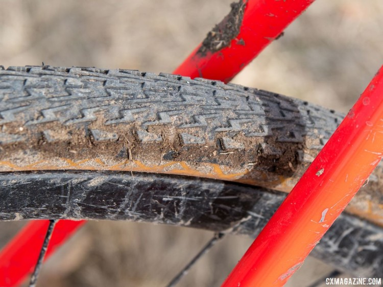 Blevins ran Specialized Tracer intermediate tires. Christopher Blevins' U23-Winning Specialized CruX. 2018 Cyclocross National Championships. © C. Lee / Cyclocross Magazine