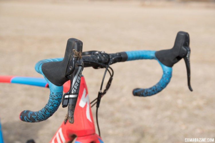 Blevins used a SRAM Force groupset on his CruX. Christopher Blevins' U23-Winning Specialized CruX. 2018 Cyclocross National Championships. © C. Lee / Cyclocross Magazine