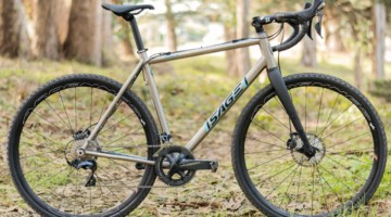 Sage built our test bike with the titanium PDXCX frame, a Shimano Ultegra 8000 groupset and HED Ardennes tubeless clinchers. As built, it costs $7,400. The Sage Titanium PDXCX Cyclocross Bike. © C. Lee / Cyclocross Magazine