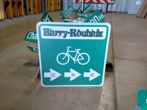 The Barry-Roubaix course has permanent signage. photo: Barry-Roubaix
