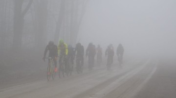 Saturday's race was a foggy affair. 2018 Ossian Giant Gravel Grinder. photo: courtesy
