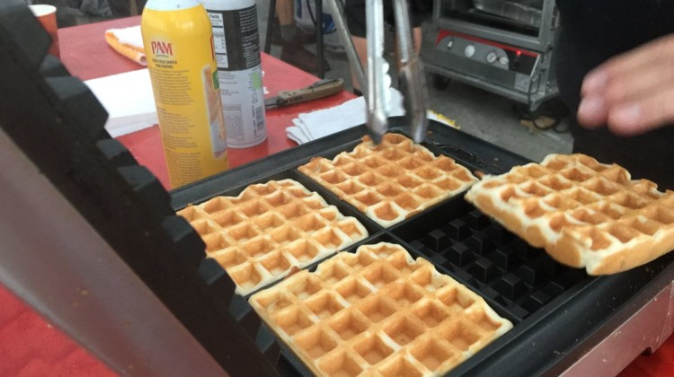 Waffles at the 2018 Belgian Waffle Ride. photo: Bob Fetherston