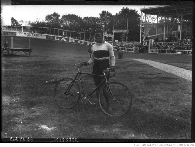 Major Taylor was a legend of American track racing. photo: gallica.bnf.fr (public domain)