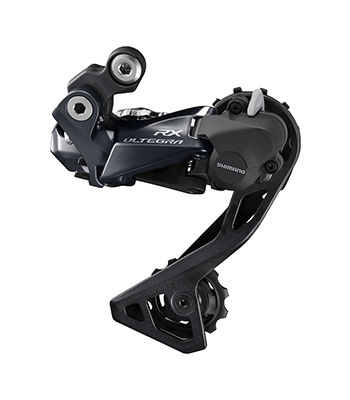 The new Shimano Ultegra RX rear derailleur has a clutch to minimize chain drops. Shimano Ultegra RX Rear Derailleur. photo: Shimano