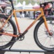 "The Gorilla Monsoon comes with monster 27.5 x 2.4"" tires, but can swap to other sizes. A 700c wheel with a 38mm tire keeps the geometry neutral. All-City Steel Gorilla Monsoon Gravel / Adventure Bike. 2018 Sea Otter Classic. © C. Lee / Cyclocross Magazine"