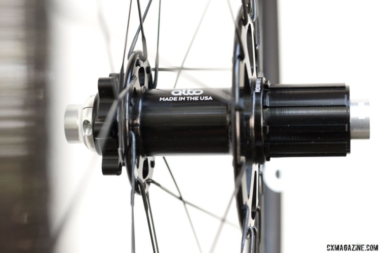 Alto's hubs use offset sizing. Alto Cycling's alloy AMX29 cyclocross / gravel disc brake wheels. © Cyclocross Magazine