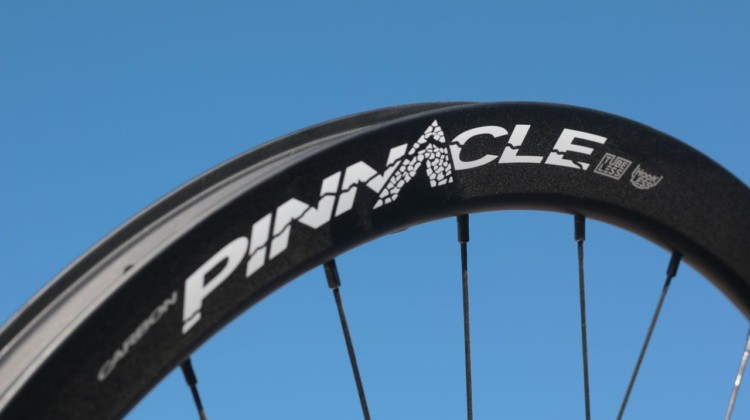The carbon Pinnacle tubeless rims are 23.4mm wide and 36mm deep. Boyd Cycling Pinnacle Tubeless Gavel and Tubular Cyclocross Wheelsets. 2018 Sea Otter Classic. © Cyclocross Magazine