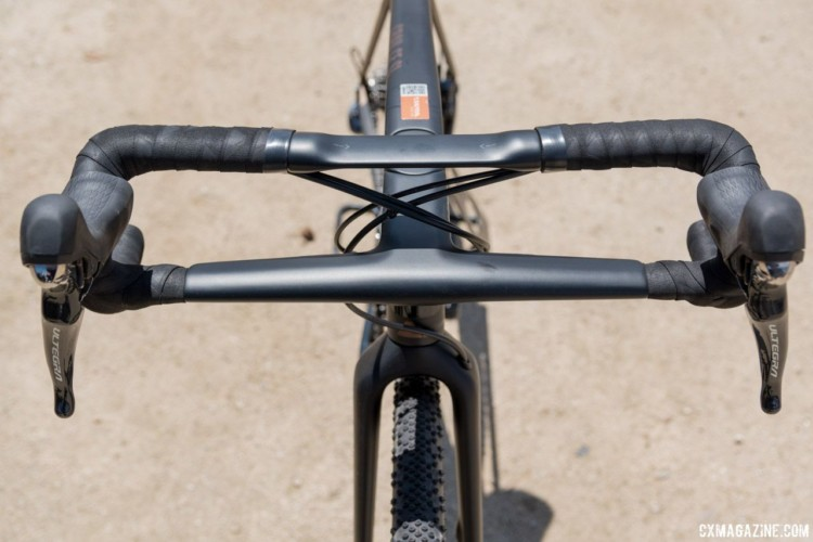 The Canyon CP01 bar/stem reminds the author of the Scott Drop In bar from the early 1990's. Canyon Grail CF Gravel Bike. 2018 Sea Otter Classic. © C. Lee / Cyclocross Magazine