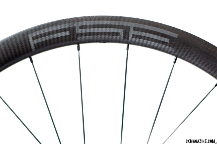 FSE makes its 40mm deep and 25mm internal width wheels using its filament spin method. FSE G40/30X carbon tubeless gravel wheels. © Cyclocross Magazine