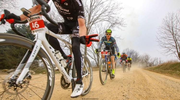 Riders still had time for some fun at the 2018 Barry-Roubaix. 2018 Barry-Roubaix Gravel Race © Rob Meendering Photo