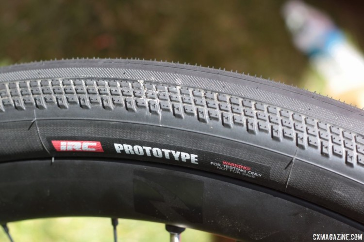 IRC was also showing a 650b prototype that will have a different tread than the 700c version. IRC Boken Gravel Tire. 2018 Sea Otter Classic. © Cyclocross Magazine
