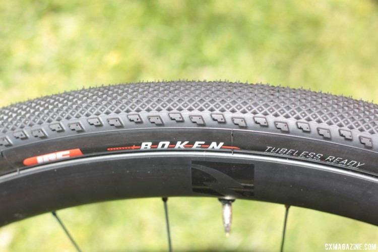 The tread of the Serac Sand inspired the new Boken gravel tire. IRC Boken Gravel Tire. 2018 Sea Otter Classic. © Cyclocross Magazine