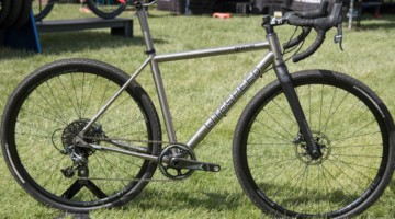Litespeed Gravel has similar geometry to the Cherohala with slightly different tube guages, features and more tire clearance. Litespeed Cherohala and Gravel Bikes. 2018 Sea Otter Classic. © Cyclocross Magazine