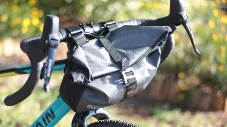 The Accessory Pack mounts to your handlebar and provides 3.5L of carrying capacity. Ortlieb Accessory Pack. © Cyclocross Magazine
