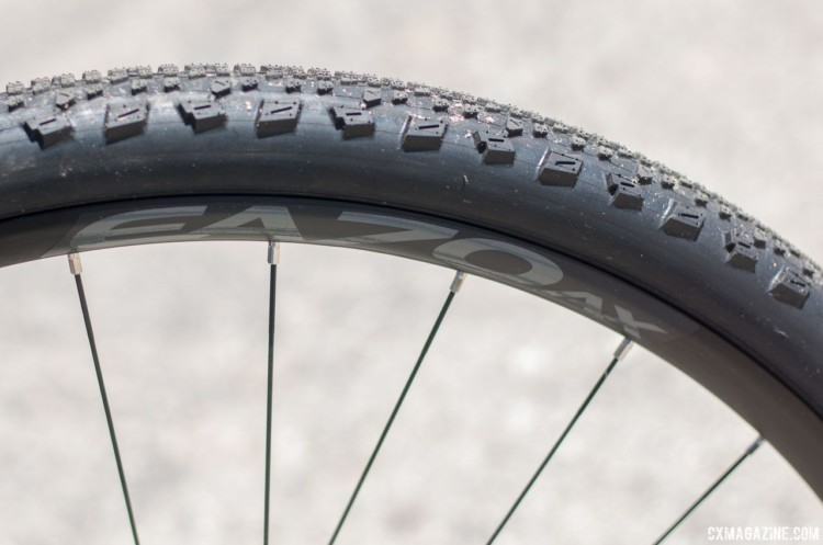 Easton's EA70 tubeless wheelset was on the Crimson Bike display. 2018 Sea Otter Classic cyclocross and gravel new products. © Cyclocross Magazine