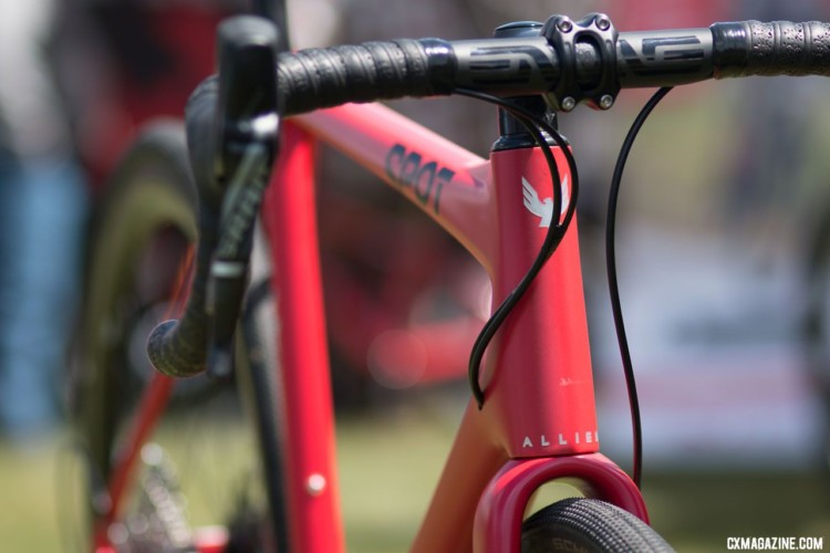 Both the frame and fork are made in Arkansas. Spot X Allied Allroad gravel bike. 2018 Sea Otter Classic. © Cyclocross Magazine