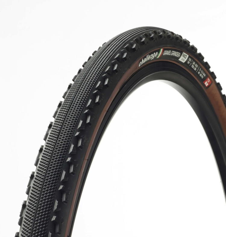 Challenge Tires has spent a good amount of time in the tanning booth, and now offers a dark tanwall non-tubeless version of its Gravel Grinder tire in both 38 and 42mm widths. photo: Challenge Tires