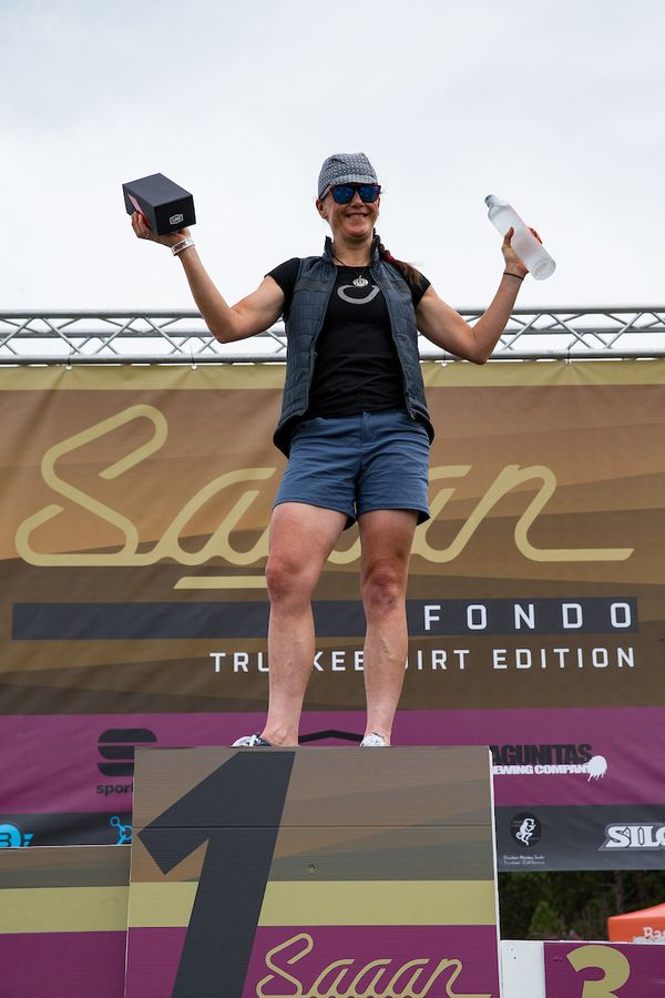 Olivia Dillon took home top honors at the Sagan Dirt Fondo earlier this year. 2018 Sagan Dirt Fondo. © Jonathan Devich / epicimages.us