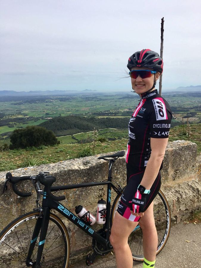 Elle Anderson, seen here during her team training camp in Mallorca, is heading into her second season with her Milwaukee - Alpha Motorhomes team. photo: courtesy