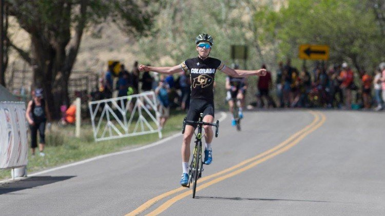 Eric Brunner won his second Collegiate Club title of 2018 in the Nationals road race. photo: Casey Gibson / USA Cycling