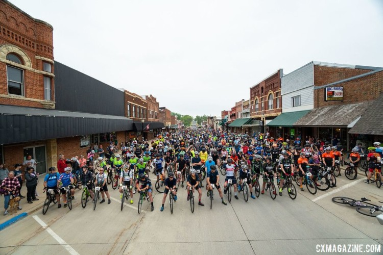 The Almanzo 100 starts in downtown Spring Valley, which is located south of Rochester. 2018 Almanzo 100 Gravel Race. © Eric Wynn