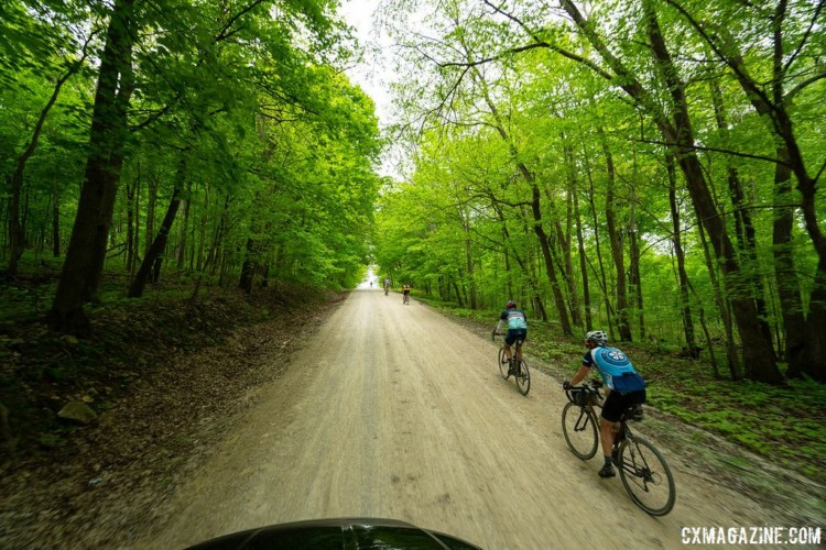Climbs were aplenty at Almanzo, with over 6,000 feet of vertical gain for the 100-mile race. 2018 Almanzo 100 Gravel Race. © Eric Wynn