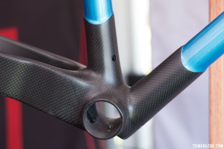 Lugged construction is something we don't see very often with carbon frames. © Cyclocross Magazine